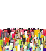 Abstract fragmented backdrop in bright colors — Stock Photo