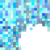 Exploded mosaic backdrop in blue purple on white — Stock Photo