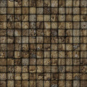 Cracked mosaic tile worn old wall floor brown — Stock Photo