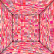 Mosaic square tiled empty space in multiple pink — Stock Photo