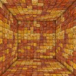 Mosaic square tiled empty space in orange yellow — Stock Photo