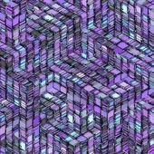 Contexte de gris violet abstrait cube rayé bleu — Photo