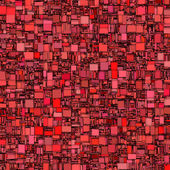 Abstract tile mosaic backdrop in red pink — Stockfoto
