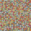 Mosaic tiled rainbow color striped checker backdrop — Stock Photo #38328359