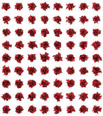 3d abstract red spiked shape pattern on white — Stock Photo
