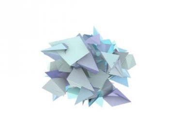 3d abstracta forma claveteada azul sobre blanco — Vídeo de stock