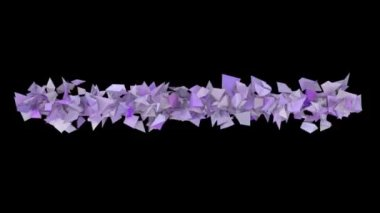 3d abstract purple spiked shape on black — Vídeo de stock