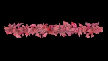 3d abstract pink red spiked shape on black — Video Stock