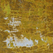 3d abstract industrial grunge wall backdrop in yellow white — Stock Photo