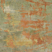 3d abstract grunge green orange wall backdrop  — Zdjęcie stockowe