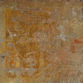 Abstract grunge orange rust wall background — Stock Photo