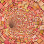 3d fragment techno tile tunnel pipe in pink orange — Stock Photo