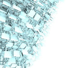 Abstract fragmented backdrop pattern in blue gray white — Stock Photo