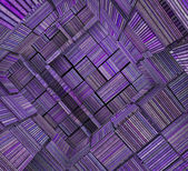 3d fragmented tiled mosaic labyrinth striped purple lavender mag — Stock Photo