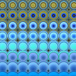 3d abstract tiled mosaic background in blue yellow green — Stock Photo #50617243
