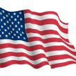 Royalty-Free Stock Vector Image: USA flag