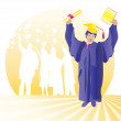 Graduate with certificate — Stock Photo