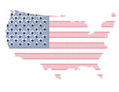 Map of USA — Stock Vector