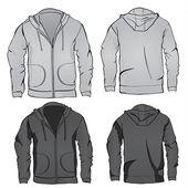 Hoodie sweatshirt template — Stock Vector