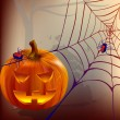 Halloween pompoen — Stockvectorbeeld