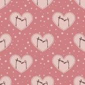 Valentine`s day pattern — Stock Vector