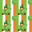 Stock Vector: Seamless pattern on patrick day