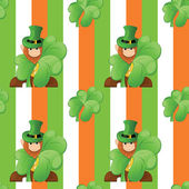 Seamless pattern on patrick day — Stock Vector