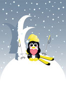 Pinguin — Vector de stock