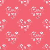 Pattern Valentine's Day — Stock Photo