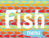 Fish menu — Stock Vector