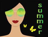 Woman in summer — Stock Vector