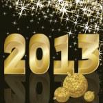 New Golden Year 2013, vector illustration — Stock Vector #12138355