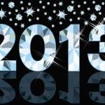 Diamond 2013 New Year banner, vector illustration — Stock Vector