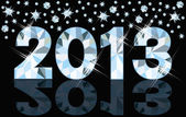 Diamond 2013 New Year banner, vector illustration — Vettoriale Stock