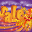 Autumn sale banner, vector illustration — Imagen vectorial