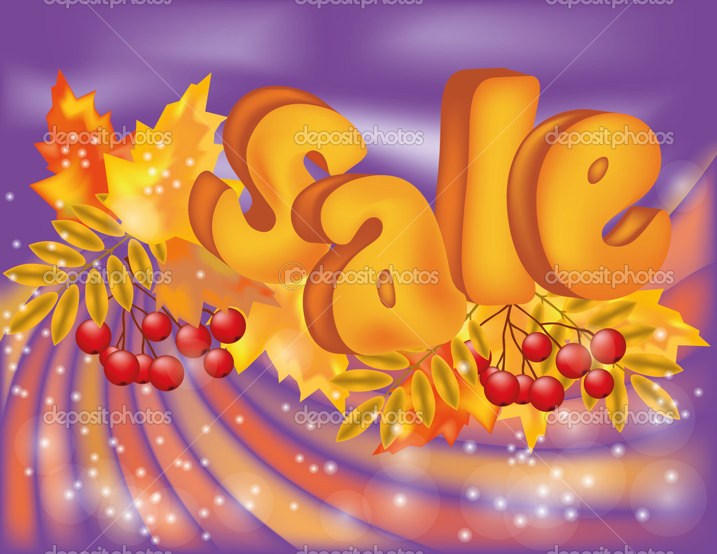 Autumn season sale card, vector illustration — Stock Vector #12636598
