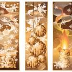 Set christmas winter banners, vector illustration — Stock Vector