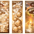 Set christmas winter banners, vector illustration — Stock Vector