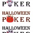 Halloween poker. vector illustration — Stock Vector #12857726
