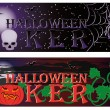Two Poker halloween banners. vector illustration — Stock Vector