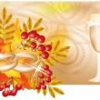 Autumn wedding banner, vector illustration — Stock Vector