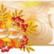 Autumn wedding banner, vector illustration — Stock Vector