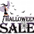 Halloween sale banner , vector illustration — Stock Vector
