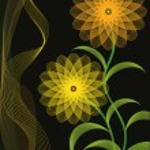 Autumn flower banner, vector illustration — Stock Vector
