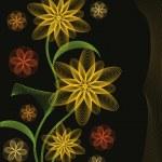 Autumn flowers, vector illustration — Stock Vector