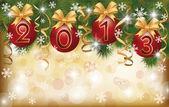 2013 新年挨拶バナー、ベクトル イラスト — Stock vektor