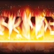 Fire sale banner, vector illustration — Image vectorielle