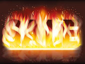 Fire sale banner, vector illustration — Vector de stock