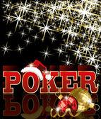 Vánoční poker karta, vektorové ilustrace — Stock vektor