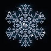 Fiocco di neve diamante, illustrazione vettoriale — Vettoriale Stock